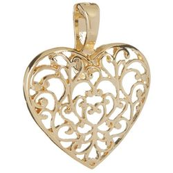 By Roman Filigree Heart Pendant