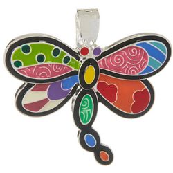 Wearable Art By Roman Colorful Dragonfly Pendant