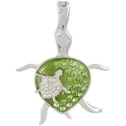 Wearable Art By Roman Mom & Baby Turtle Pendant