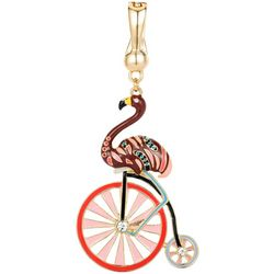 Wearable Art By Roman Flamingo Bicycle Pendant