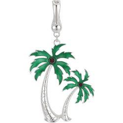 Wearable Art By Roman Double Palm Tree Pendant