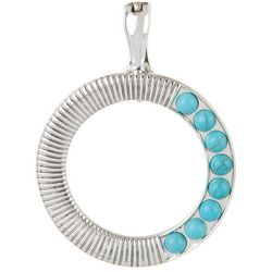 Wearable Art Turquoise Blue Textured Ring Pendant