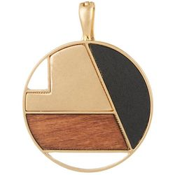 Wearable Art Larger Inlaid Wood Disc Pendant