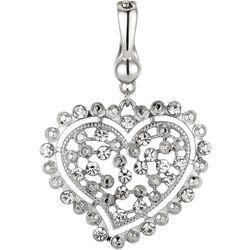 Wearable Art By Roman Rhinestone Heart Pendant