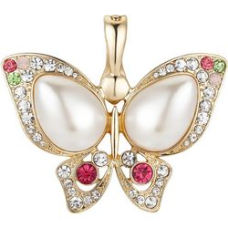 Wearable Art By Roman Jeweled Butterfly Pendant