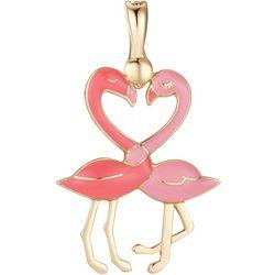 Wearable Art By Roman Double Flamingo Pendant