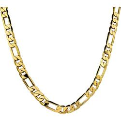 By Roman Gold Tone Flat Figaro Link Necklace
