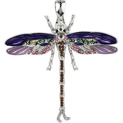 Wearable Art By Roman Purple Dragonfly Pendant