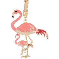 Wearable Art Mom & Baby Flamingo Pendant