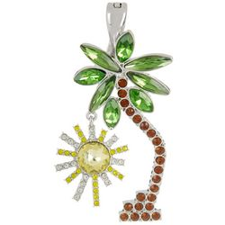 Wearable Art By Roman Palm Tree & Sun Pendant