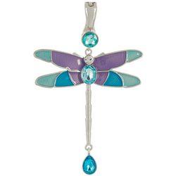 Wearable Art By Roman Purple Multi Dragonfly Pendant