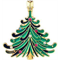 Wearable Art By Roman Christmas Tree Pendant