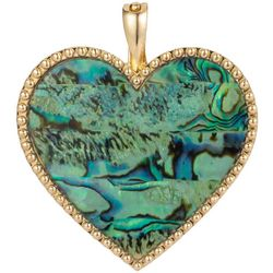 Wearable Art By Roman Abalone Dotted Heart Pendant