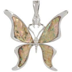 Wearable Art By Roman Butterfly Abalone Pendant