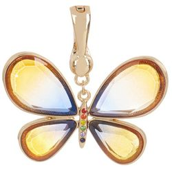 Wearable Art By Roman Resin & Rhinestone Butterfly Pendant