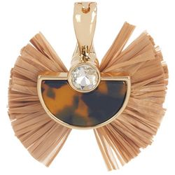 Wearable Art By Roman Tortoise Shell Raffia Pendant