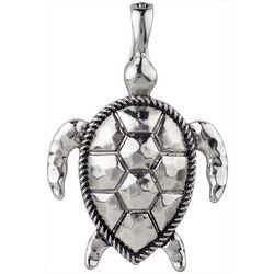 Wearable Art By Roman Silver Tone Sea Turtle