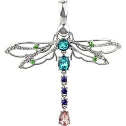 Wearable Art By Roman Crystal Elements Dragonfly Pendant