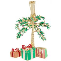 Wearable Art By Roman Christmas Palm Tree Pendant