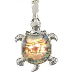 Wearable Art By Roman Abalone Turtle Pendant