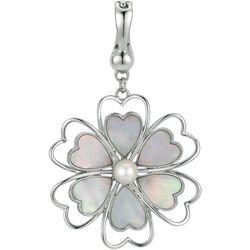 Wearable Art By Roman Mother Of Pearl Flower Pendant