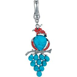 Wearable Art By Roman Turquoise Parrot Pendant