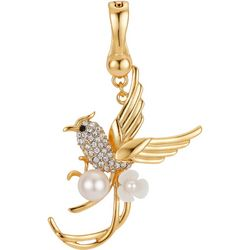 Wearable Art By Roman Crystal & Pearl Hummingbird Pendant