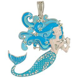 Wearable Art Aqua Multi Mermaid Pendant