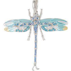 By Roman Rhinestone & Enamel Dragonfly Pendant