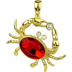 Wearable Art By Roman Multi-Faceted Stone Crab Pendant