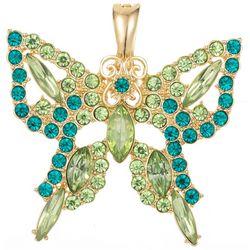 Wearable Art Butterfly Rhinestone Pendant