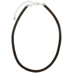 By Roman Black Flat Corded Necklace