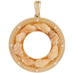 By Roman Shell Wreath Pendant