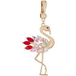 Wearable Art By Roman Jeweled Flamingo Pendant
