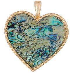 Wearable Art By Roman Abalone Heart Pendant