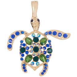 By Roman Gold Tone Sea Turtle Pendant