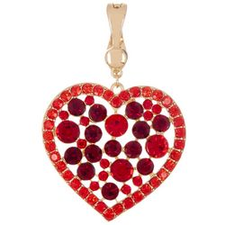 Wearable Art By Roman Red Heart Pendant