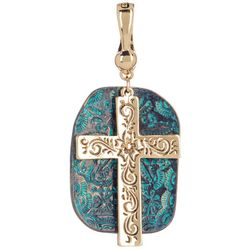 Wearable Art By Roman Cross & Stone Pendant