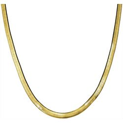 Wearable Art By Roman Gold Tone Herringbone Chain Necklace