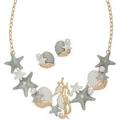 Elsie & Zoey Seahorse Earring & Necklace Set