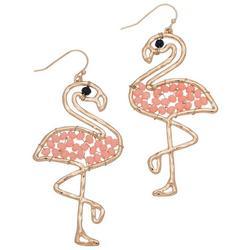 Elsie & Zoey Beaded Flamingo Earrings