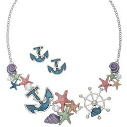 Elsie & Zoey Nautical Earring & Necklace Set