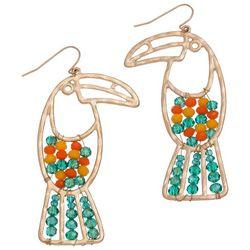 Elsie & Zoey Beaded Toucan Earrings