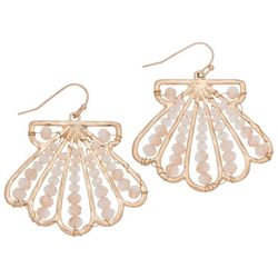 ELSIE & ZOEY Beaded Shell Earrings