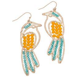 Elsie and Zoey Tropical Brid Beaded Earrings