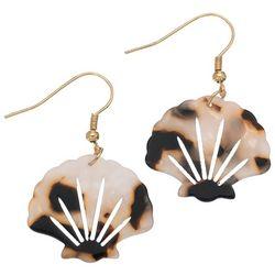 Elsie and Zoey Tortoiseshell Shell Earrings