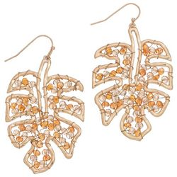 ELSIE & ZOEY Beaded Monstera Leaf Earrings