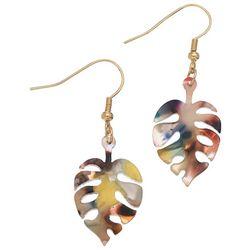 Elsie & Zoey Monstera Leaf Earrings