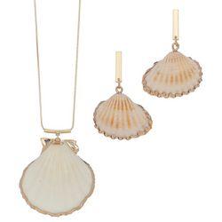ELSIE & ZOEY Gold Tone Dip Shell Earring