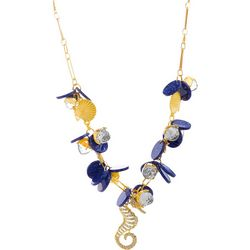 Bay Studio Blue Multi Crystal Seahorse Necklace